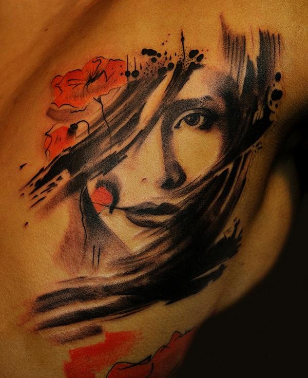 Tattoo Designs Woman Portrait: Awesome Portrait Tattoo Designs